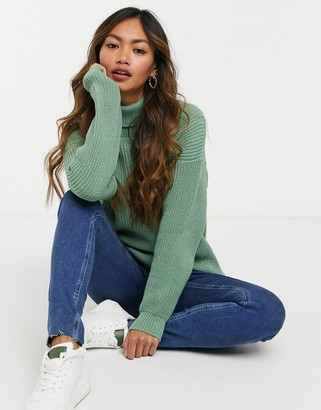 UNIQUE21 roll neck sweater in sage