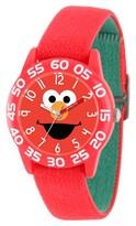 Sesame Street Boys' Red Plastic Time Teacher Watch - Red