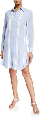 Finley Agetha Big Breezy Striped Button-Down Shirtdress