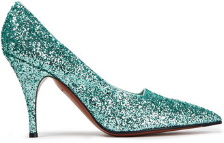 Victoria Beckham Glittered Canvas Pumps