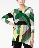 Alfani Printed Handkerchief-Hem Top, Only at Macy's