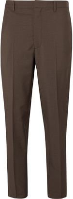 Prada Tapered Wool And Mohair-Blend Trousers