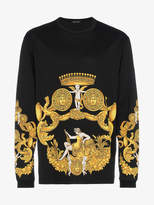 Versace Printed Long Sleeve Sweatshirt