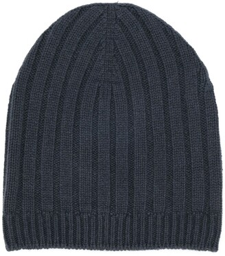 Holland & Holland Ribbed Beanie Hat