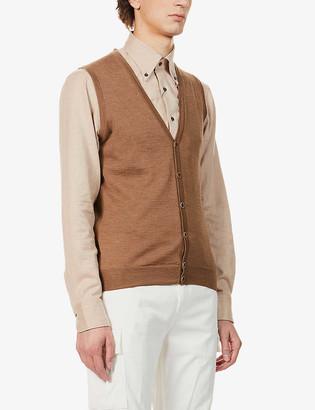 Stenstroms V-neck wool vest
