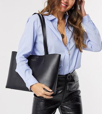 Accessorize structured tote bag in black