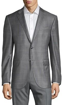 Corneliani Virgin Wool Plaid Jacket