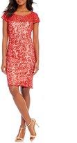 Calvin Klein Sequin Embroidered Shift Dress