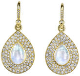 Irene Neuwirth Flat Pave Diamond Teardrop Earrings with Rainbow Moonstone