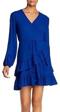 1 STATE Tiered Ruffle Wrap Dress