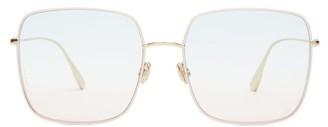 Christian Dior Diorstellaire1 Square Metal Sunglasses - Womens - Pink Multi
