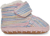 Toms Pink Metallic Woven Tiny Cuna Crib Shoes