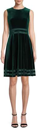 Calvin Klein Velvet Fit--Flare Dress