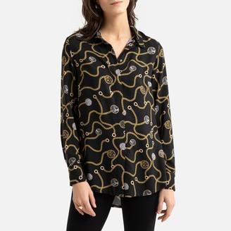 Anne Weyburn Printed Long-Sleeved Tunic