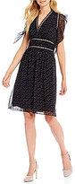 M.S.S.P. Polka Dot Printed Georgette Dress
