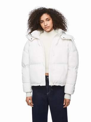 Pepe Jeans Dua Lipa Zip-Up Padded Jacket with Hood and Pockets
