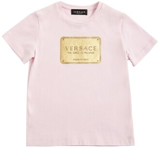 Versace Logo Print Cotton Jersey T-shirt