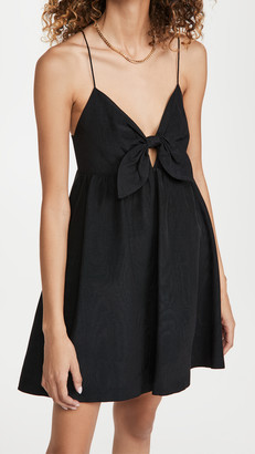 Alice + Olivia Melvina Tie Gathered Babydoll Dress