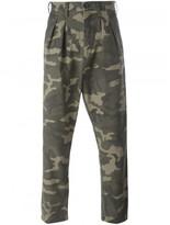 Faith Connexion camouflage print trousers