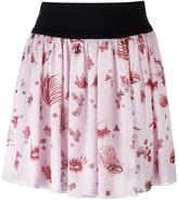 Giamba eye print skirt - women - Silk/Cotton/Polyamide/Spandex/Elastane - 42