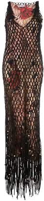 Salvatore Ferragamo layered mesh dress