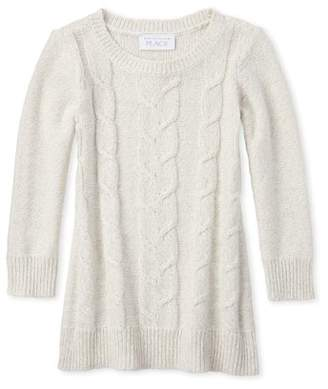 Children's Place The Baby Toddler Girl Cable Knit Sweater Dress