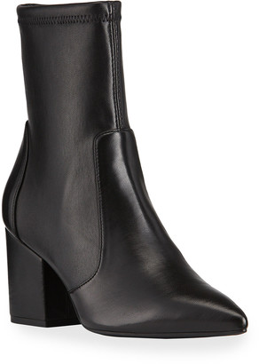 Stuart Weitzman Vernell Stretch Leather Ankle Booties