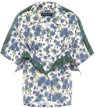Y/Project Floral cotton shirt