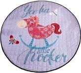 Menu Life Soft Cotton Baby Play Mat Activity Gym Large Padded Playmat Crawling Pad, round Horse 150cm