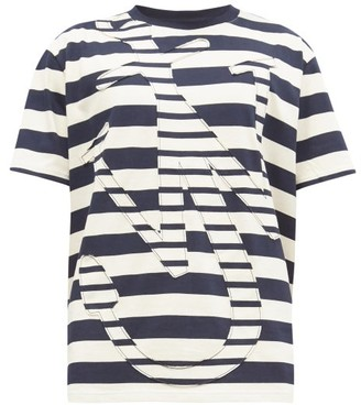J.W.Anderson Anchor-applique Cotton-jersey T-shirt - Navy White