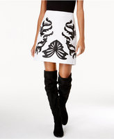 INC International Concepts Faux-Leather Appliqué Mini Skirt, Created for Macy's