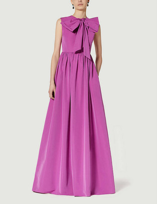 Valentino Sleeveless bow-embellished faille gown