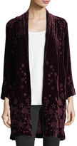 Johnny Was Roberta Star-Floral Velvet Coat, Plus Size