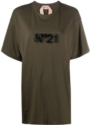 No.21 logo-embellished oversize T-shirt