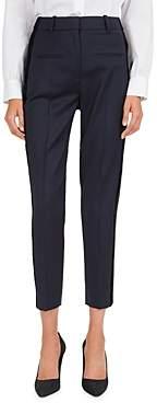 The Kooples Cropped Velvet Side Stripe Pants