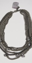 Maya'z Short Multi Chain Necklace in Silver Clear