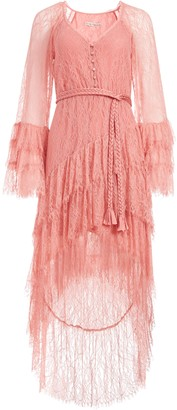 Alice + Olivia Onica Asymmetrical Lace Dress