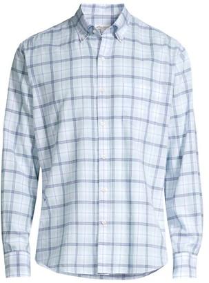 Peter Millar Herringbone Long-Sleeve Button-Front Shirt