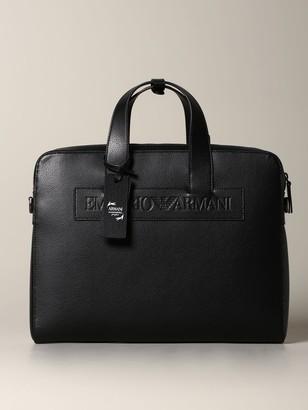 Emporio Armani Shoulder Bag Briefcase In Synthetic Leather