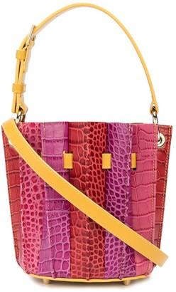 Sara Battaglia Plisse Mini Bucket Bag