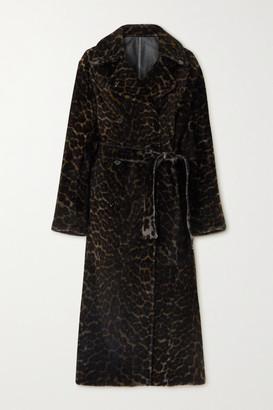 Yves Salomon Reversible Leopard-print Shearling Coat - Leopard print
