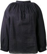 Vanessa Bruno henley blouse - women - Cotton/Ramie - 36