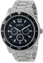 August Steiner Men's AS8059BK Quartz Multi-Function Divers Bracelet Watch
