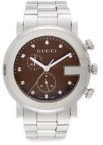 Gucci Diamond & Stainless Steel Chronograph Bracelet Watch