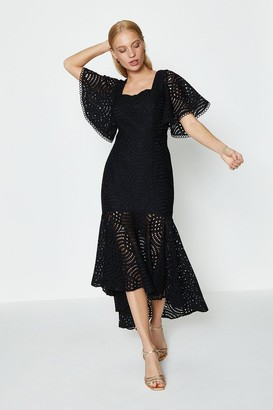 Coast Lace Peplum Hem Dress