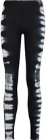 Splendid Tie-dye stretch-Supima cotton and modal-blend piqu&eacute leggings