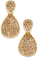INC International Concepts Gold-Tone Pink Pavé Front-Back Earrings, Only at Macy's