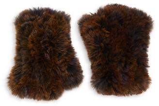 Saks Fifth Avenue Faux Fur-Trim Gloves