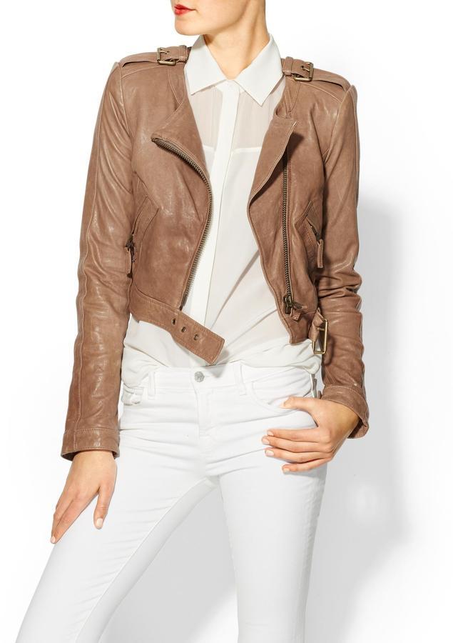 Rachel Zoe Willa Cropped Leather Jacket