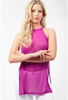 Select Fashion Fashion Womens Purple High Neck Vest - size 6